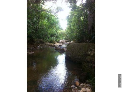 terreno con acceso al rio ahuashiyacu en venta