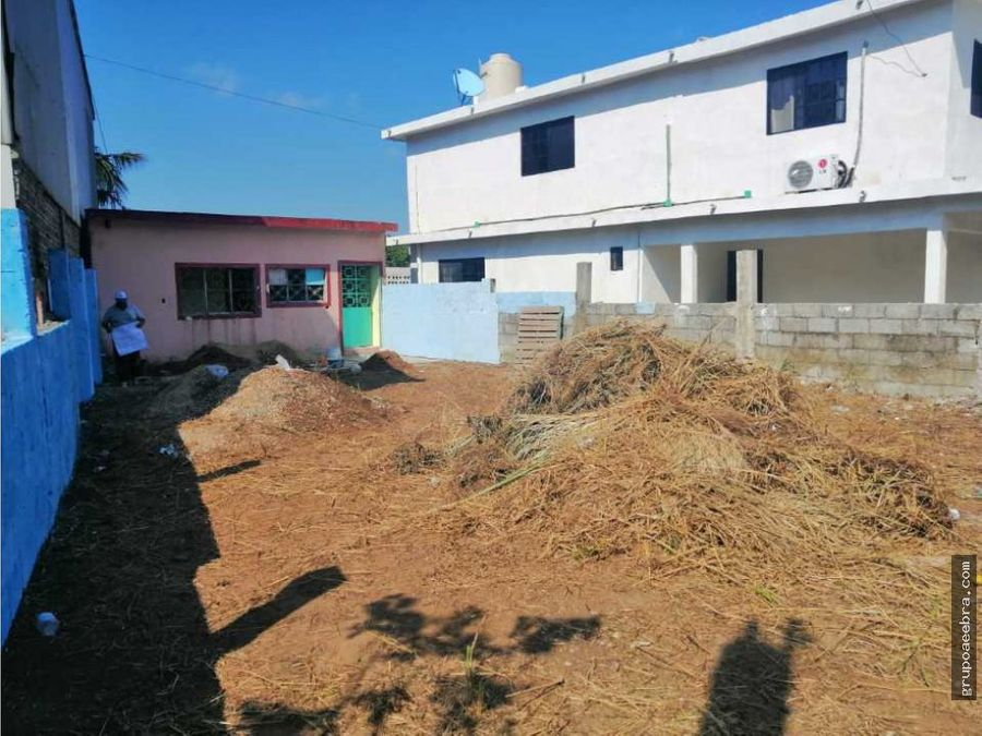 terreno con construccion pueblo viejo veracruz