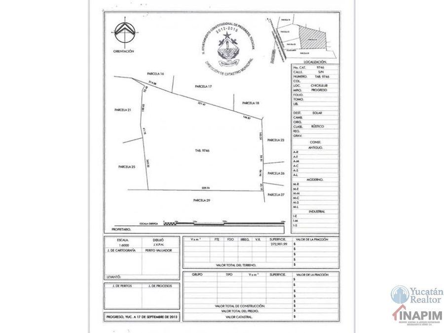 terreno de 272 hectareas en zona diamante de yucatan