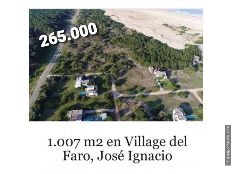 terreno en la playa en jose ignacio
