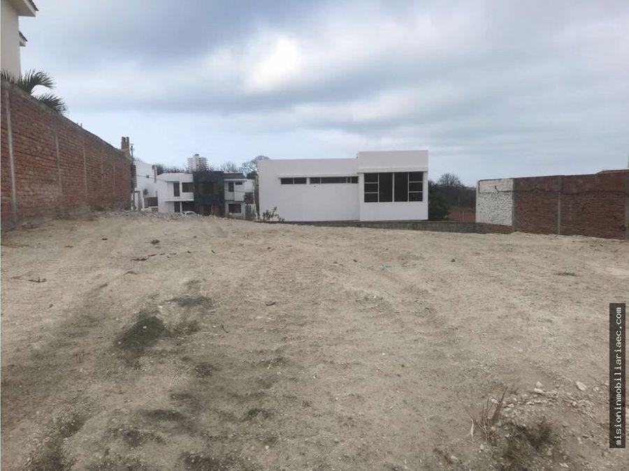 terreno en manta beach