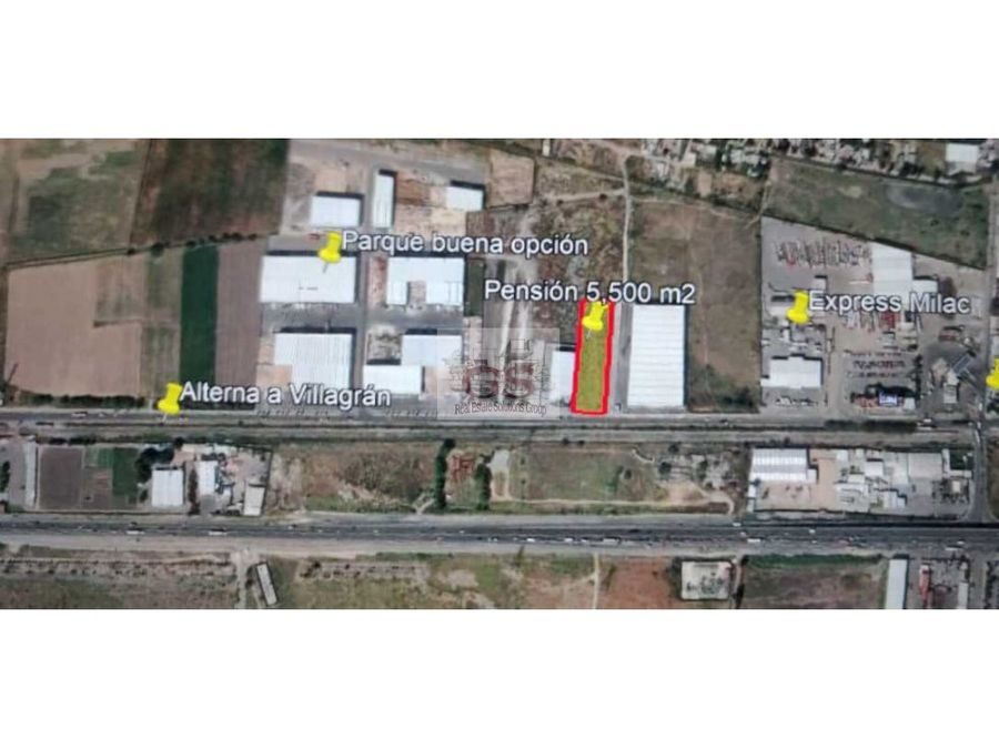 terreno en renta 5500 m2 alterna a villagran gto