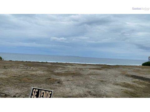 terreno frente al mar san jose montecristi manabi