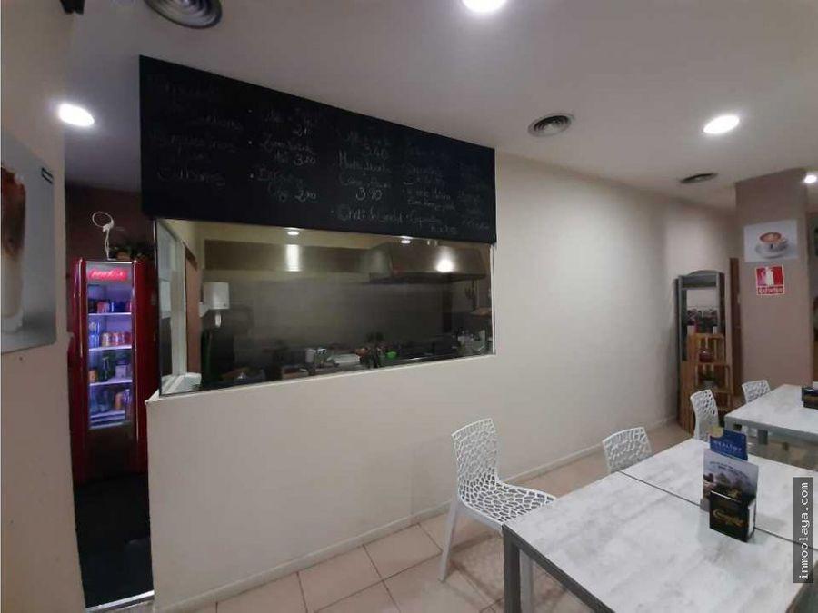 traspaso bar cafeteria con salida de humos y terraza en gava