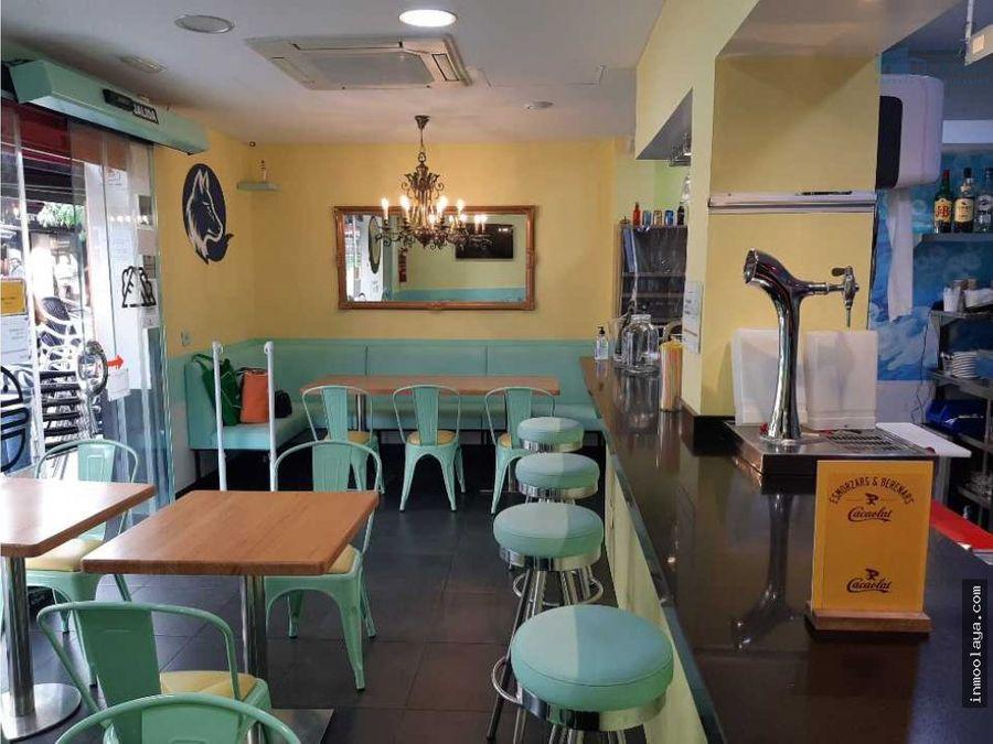 traspaso bar cafeteria c2 con salida humos y terraza en castelldefels