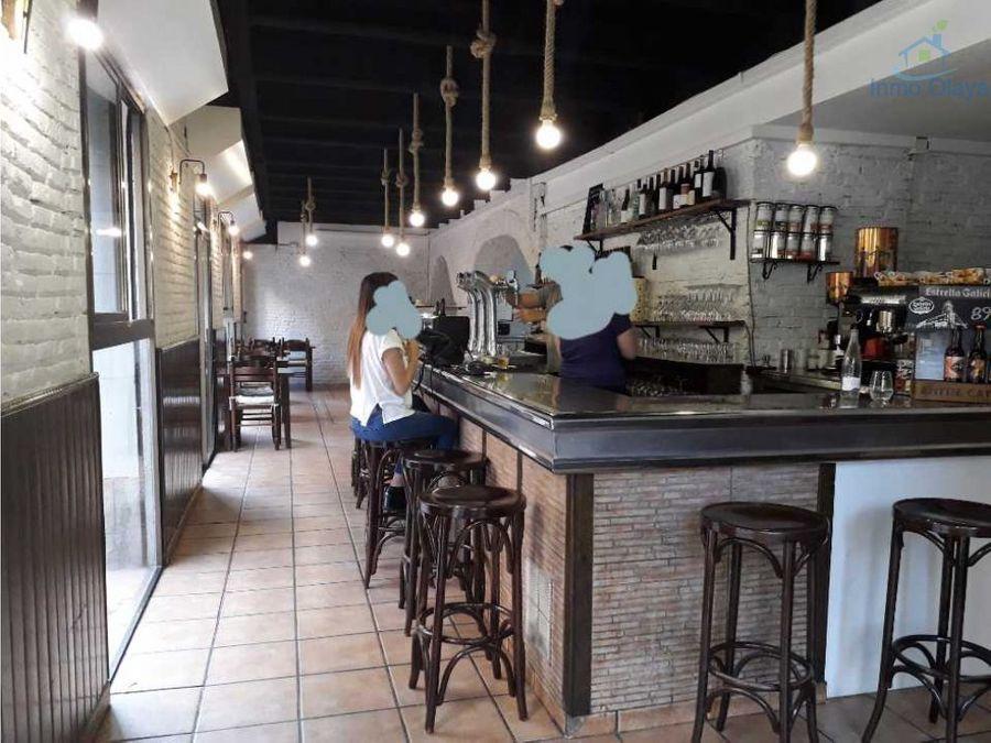 traspaso bar restaurante y terraza clot