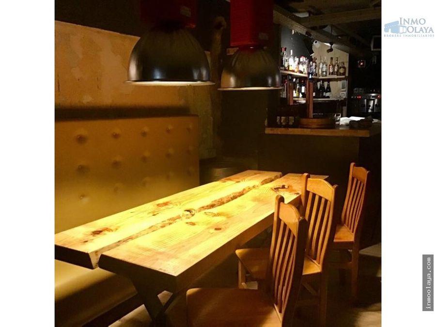 traspaso de bar restaurante c3 en eixample