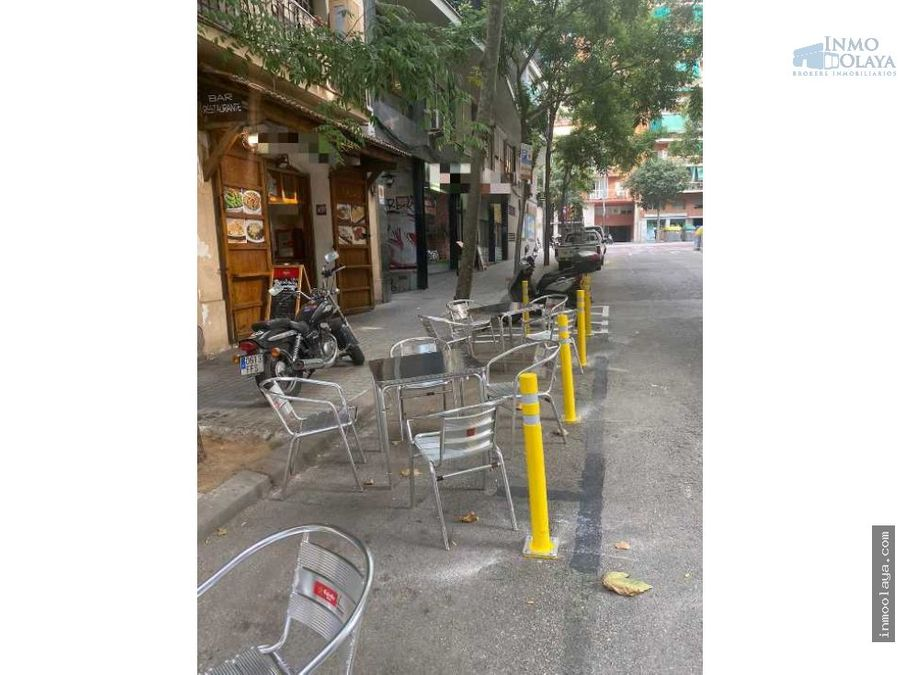 traspaso bar restaurante c3 en sants con terraza
