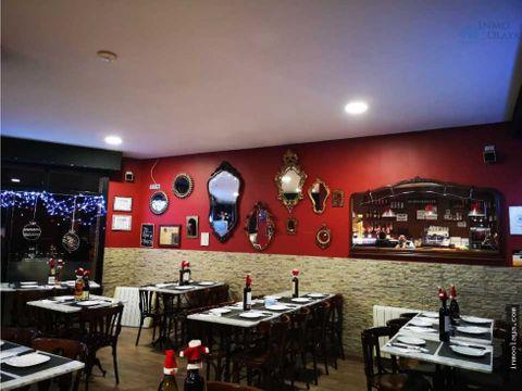 traspaso bar restaurante c3 salida de humos y terraza en castelldefels