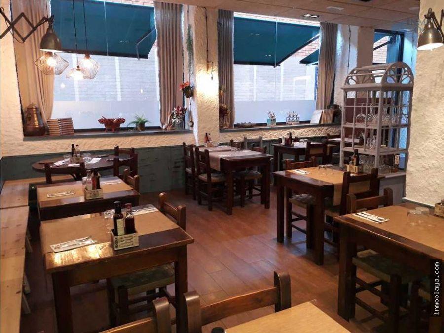 traspaso bar restaurante con terraza en la sagrera