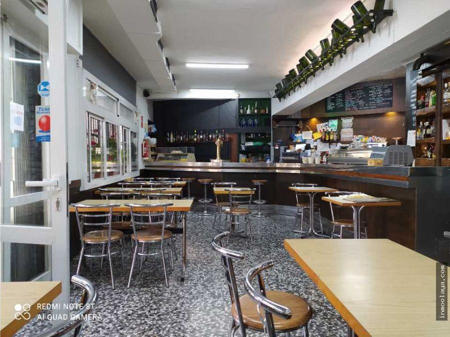 traspaso bar restaurante esquinero con terraza en poble nou