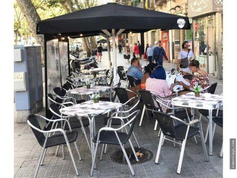 traspaso cafeteria panaderia degustacion con terraza en sants