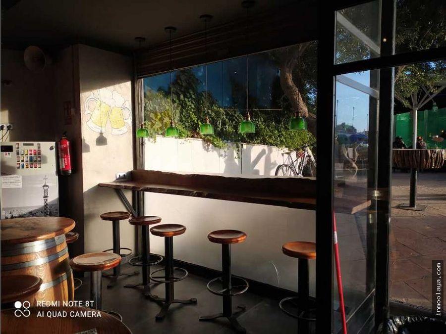 traspaso de restaurante con terraza en sants estacio