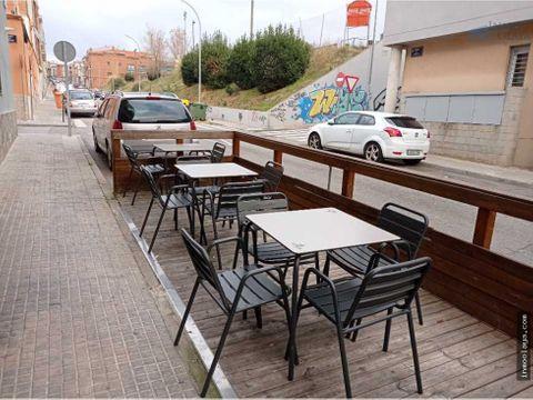 traspaso de take away con salida de humos y terraza en terrassa