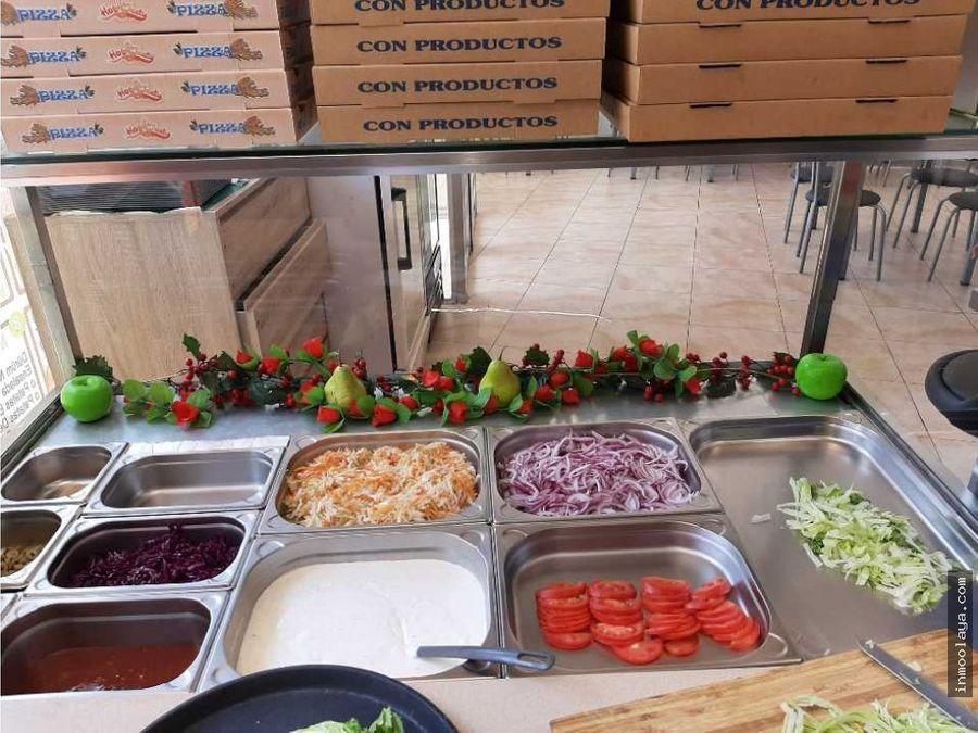 traspaso pizzeria c3 con terraza en gava