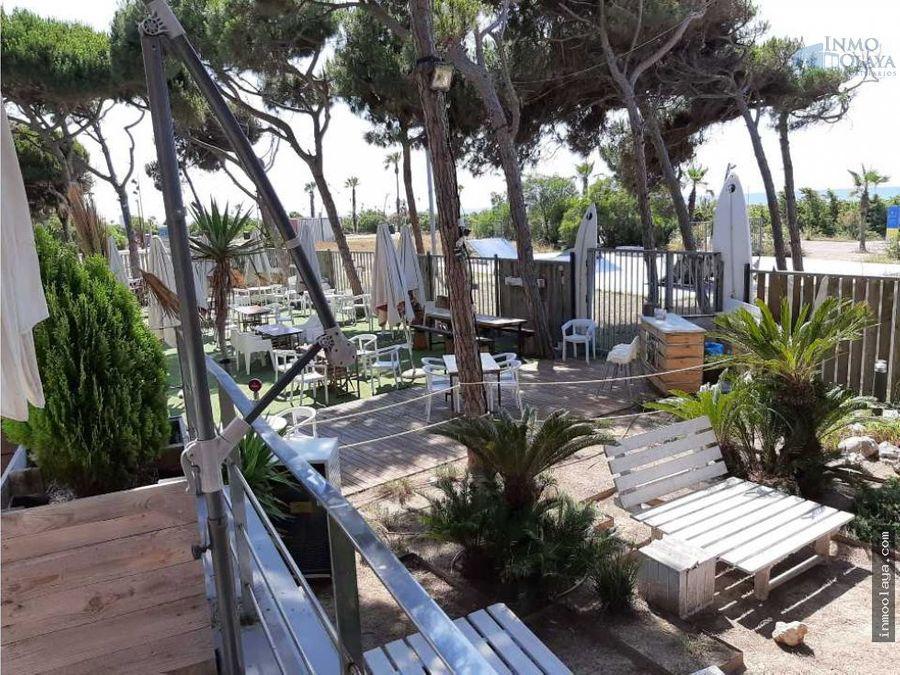 traspaso restaurante c3 en 1o linea de playa gava
