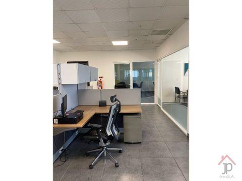 alquilo oficina en calle 50 amoblada en ph revolution 368m2