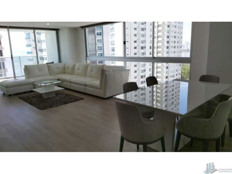 vendo apartamento amoblado ph lumiere piso alto 3 rec cbe