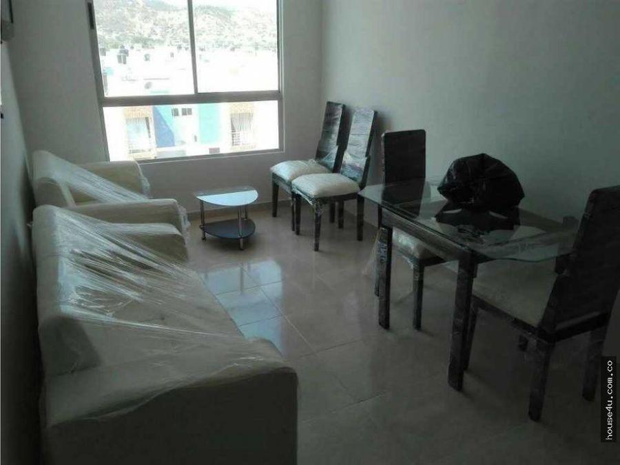 vendo apartamento semiamoblado santa marta