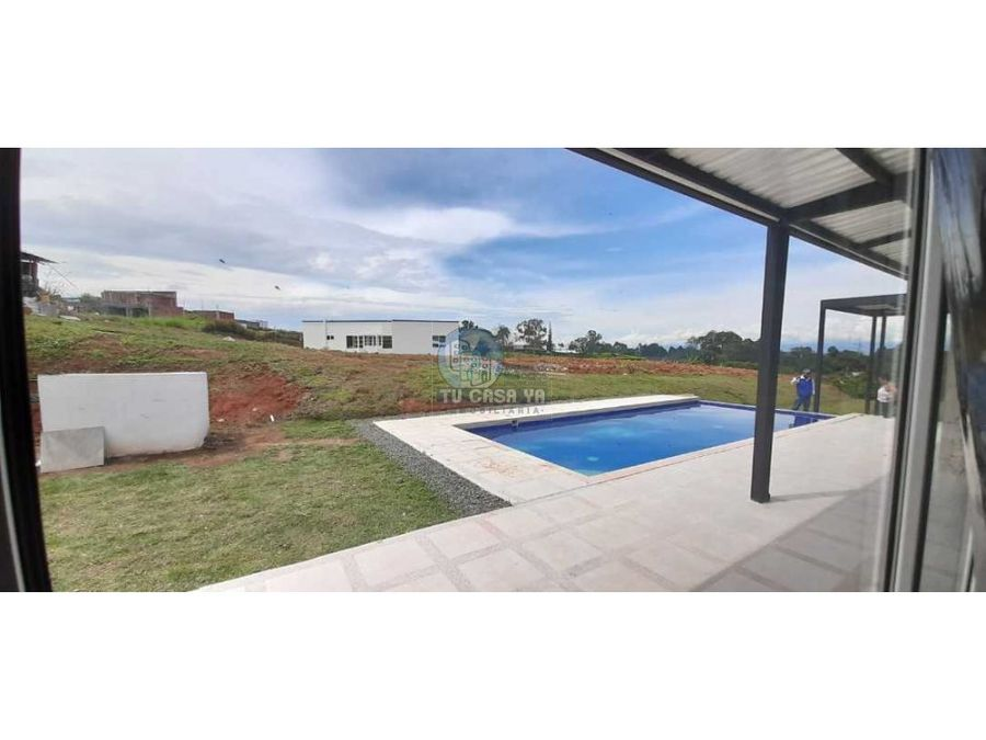 vendo casa campestre sector combia con piscina