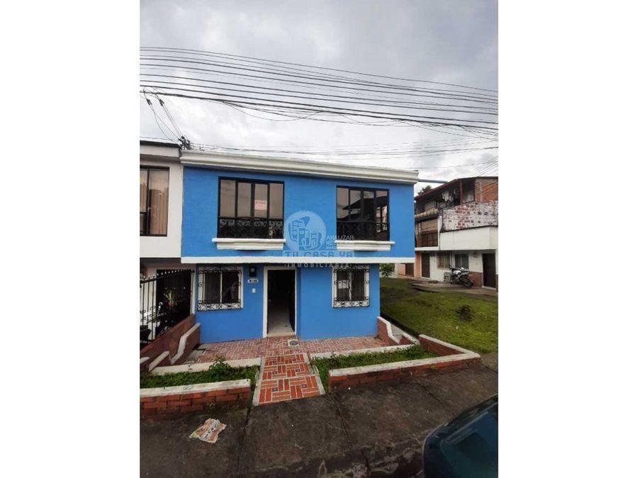 vendo casa duplex en dosquebradas