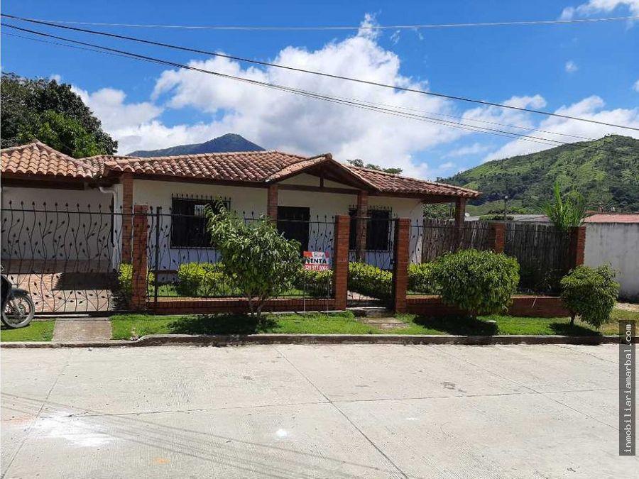 vendo casa en municipio de pueblo bello
