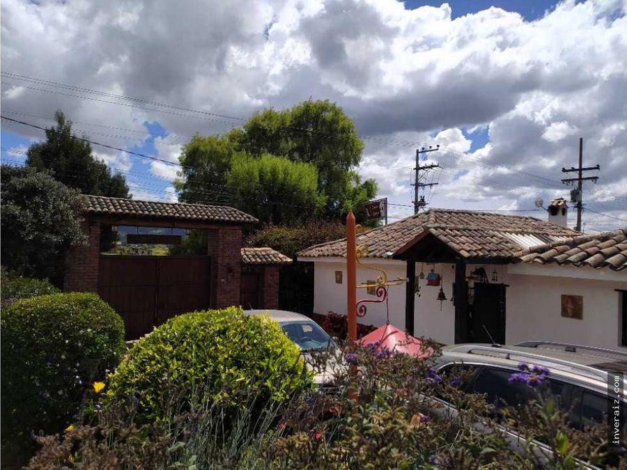 vendo casa lote via tabio tenjo 7900 m2 yg
