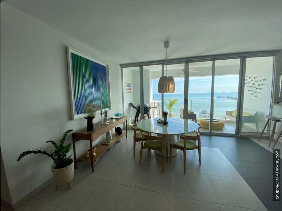 vendo espectacular apartamento vista al mar en coco del mar
