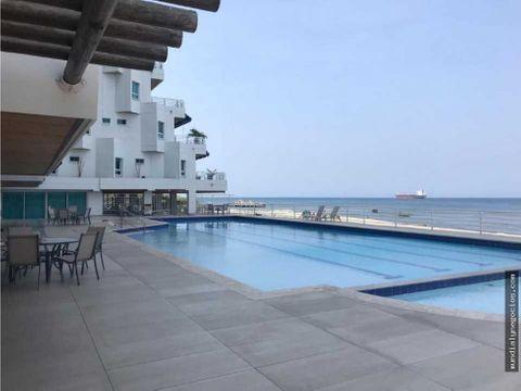 vendo hermoso apartamento amoblado a primera linea del mar jg