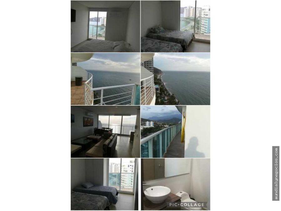 vendo hermoso apartamento primera linea playa salguero ap