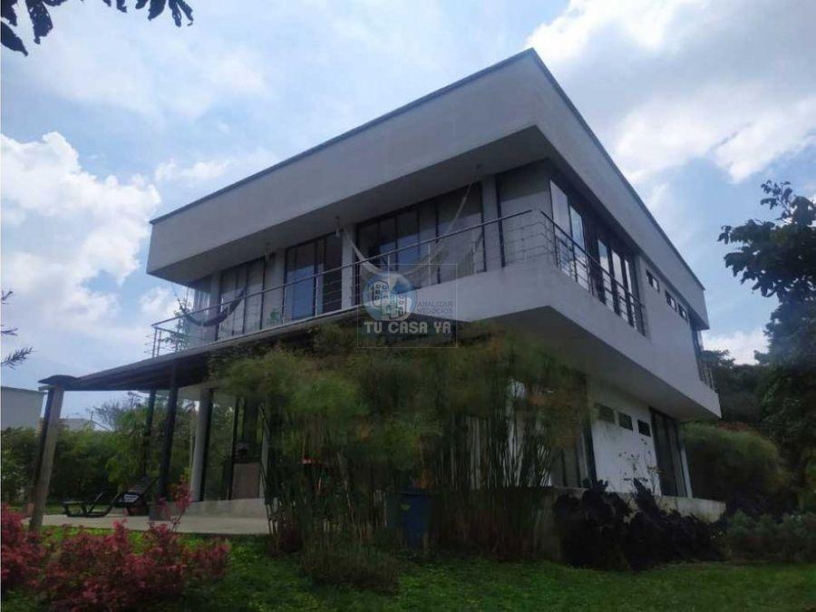 vendo hermosa casa campestre via armenia