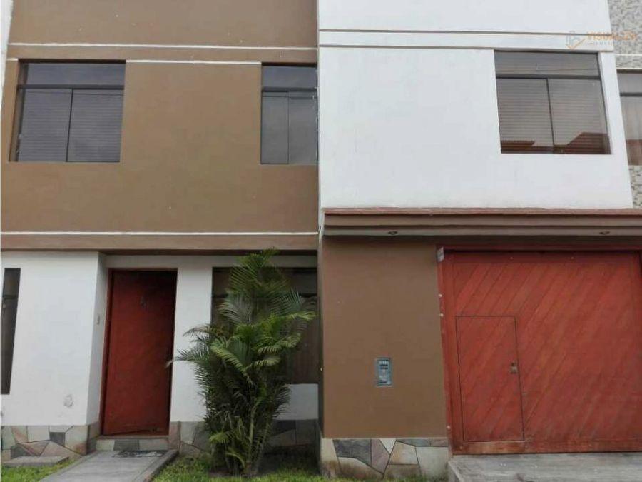 vendo linda casa de 2 pisos en urb san isidro