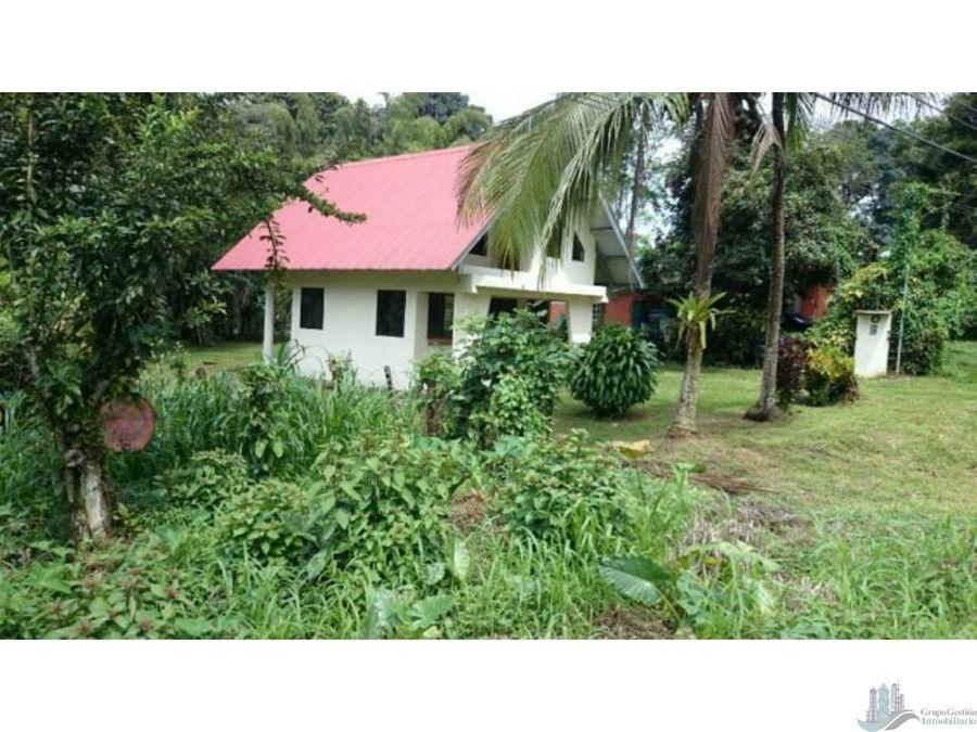vendo lote y casa de 1019m2 en la via a volcan