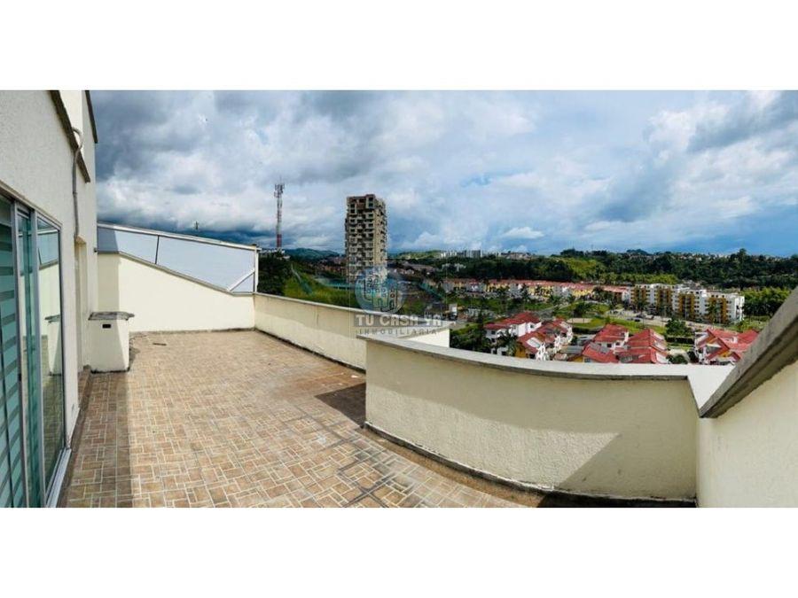 vendo penhouse con hermosa vista desde la terraza