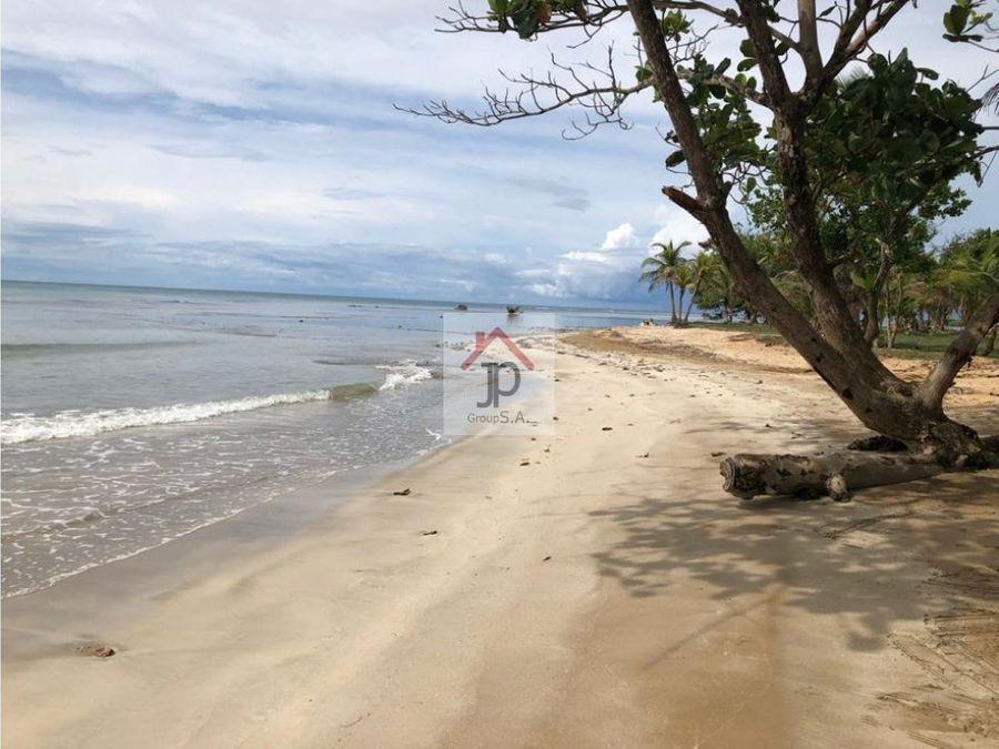 vendo terreno frente al mar caribe