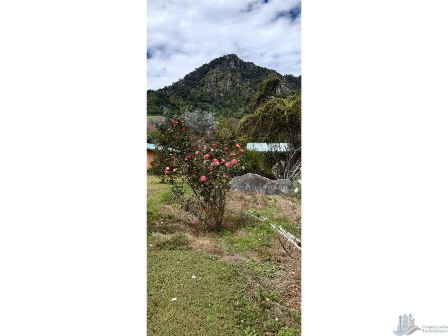 vendo 1ha 478m2 casa y 4 cabanas cerro punta