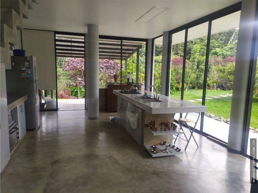 venta moderna casa en condominio campestre via armenia