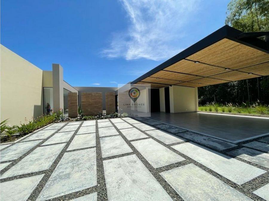 venta nueva casa campestre en el sector de cerritos pereira