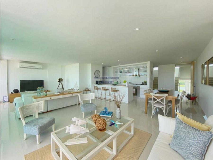 venta apartamento duplex de lujo en karibana beach golf cartagena