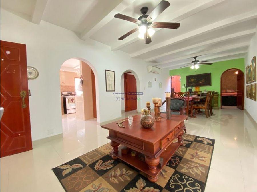 venta apartamento de primer piso de 3 alcobas en crespo cartagena