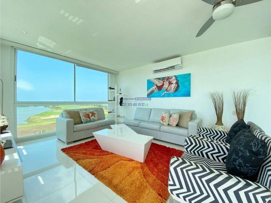 venta apartamento de 3 alcobas en karibana beach golf cartagena