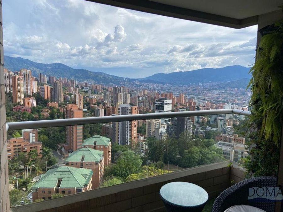 venta apartamento en altos de el poblado moderno y con vista