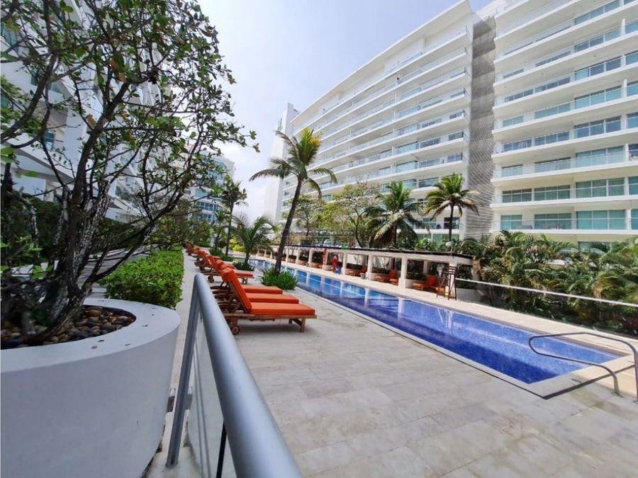 venta apartamento frente al mar de 2 habitacion en morros 3 cartagena