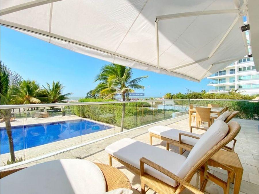 venta apartamento frente al mar morros ultra en la boquilla cartagena