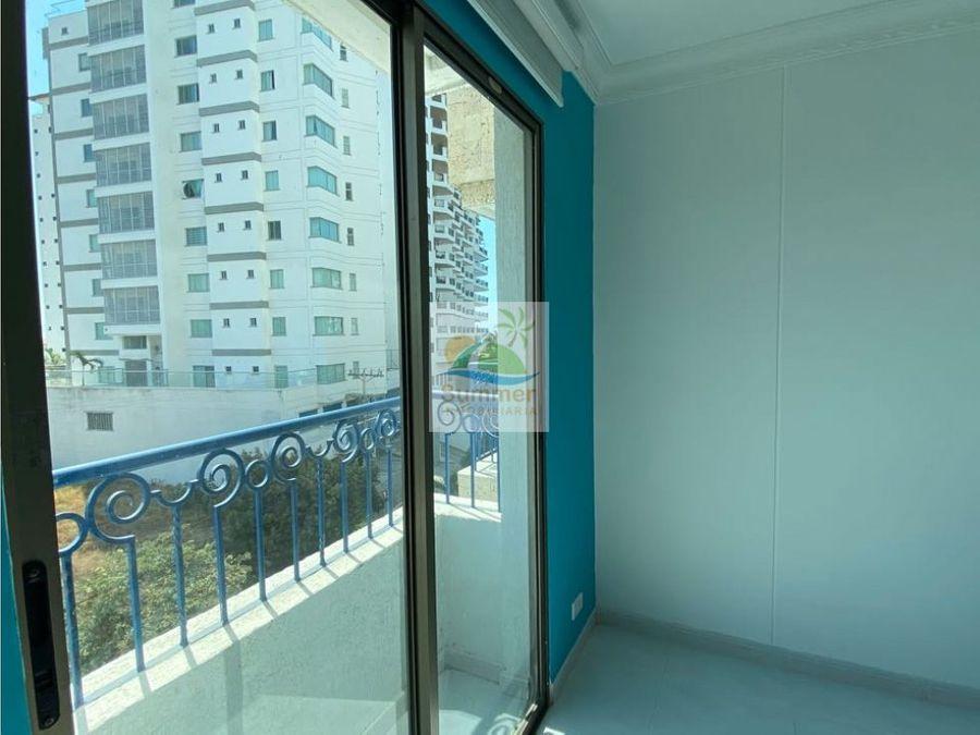 venta apartamento playa caribe 2 alcobas remodelado