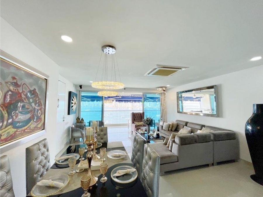 venta apartamento vista a la bahia en edificio regatta manga cartagena