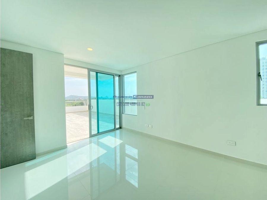 venta apartamento 1 alcoba con amplia terraza en cielo mar cartagena