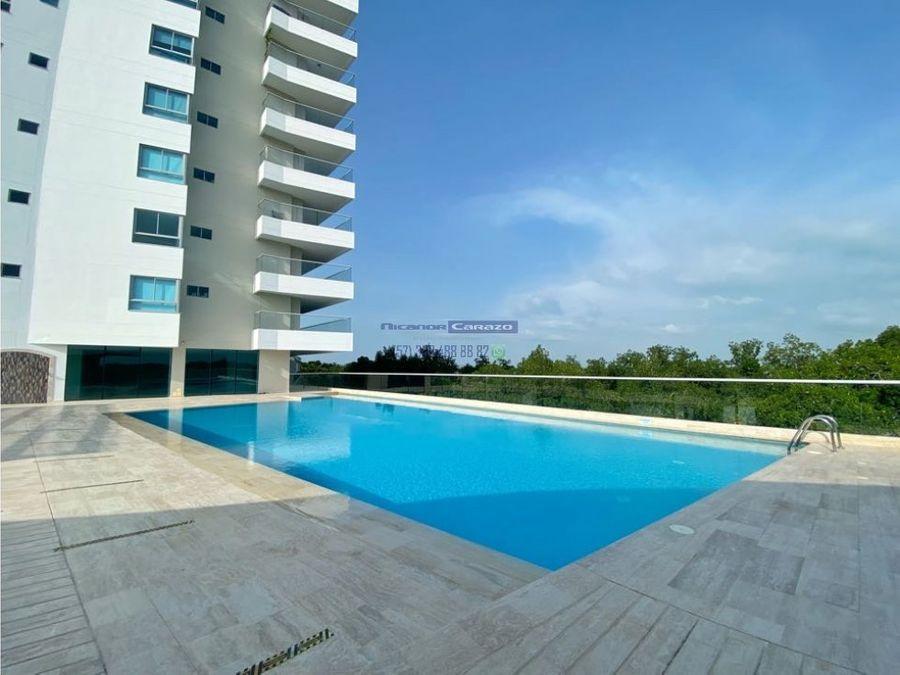 venta apartamento 2 alcobas condominio geminis en cielo mar cartagena