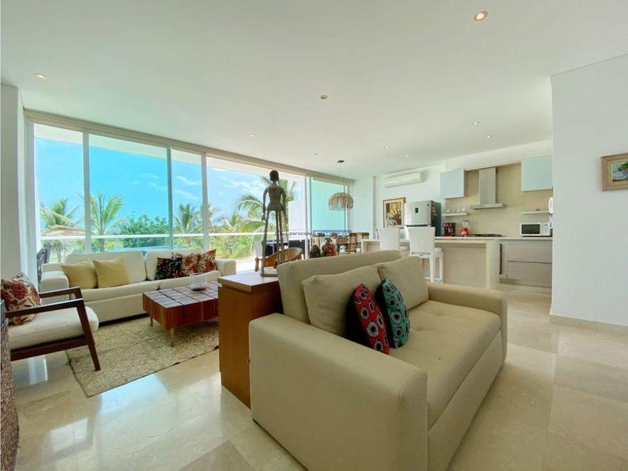 venta apartamento 2 alcobas en karibana beach golf cartagena