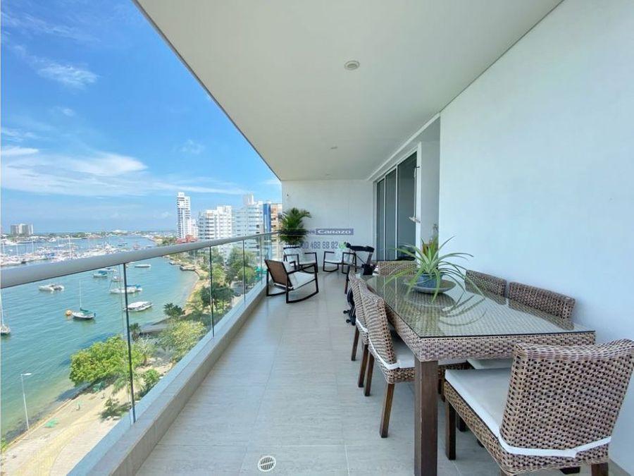 venta apartamento 3 alcobas edificio aura del mar en manga cartagena